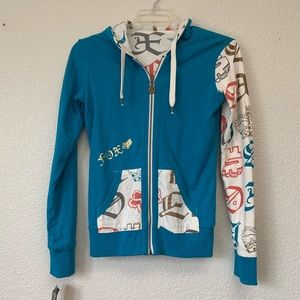 Fox Girls Reversible Racing Hoodie size Medium